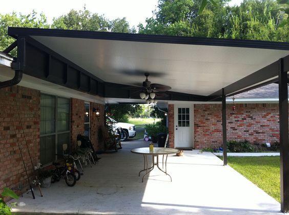 ceiling fan for carport Commercial Door Hood Awnings La Porte