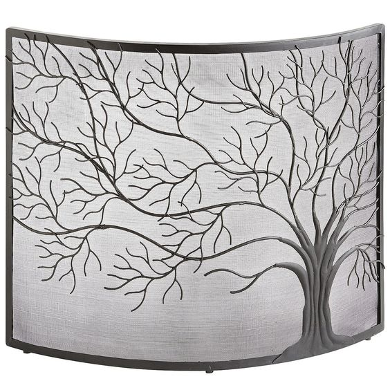 Tree Of Life Fireplace Surround: Fireplaces, Pier 1 Imports And Fireplace Screens On Pinterest