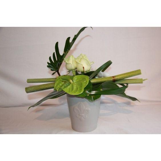 art floral composition florale moderne bouquet rond. Black Bedroom Furniture Sets. Home Design Ideas
