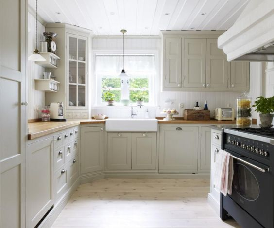 Best Cabinets Gray Cabinets And Butcher Blocks On Pinterest 400 x 300