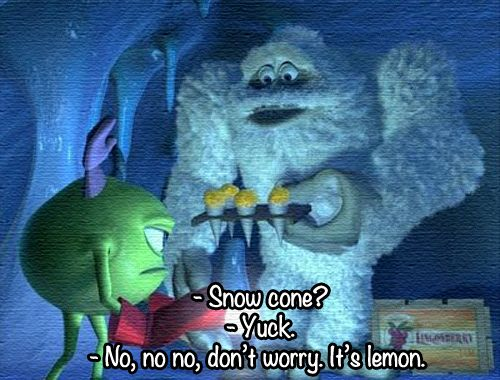 monsters inc  snow cone?