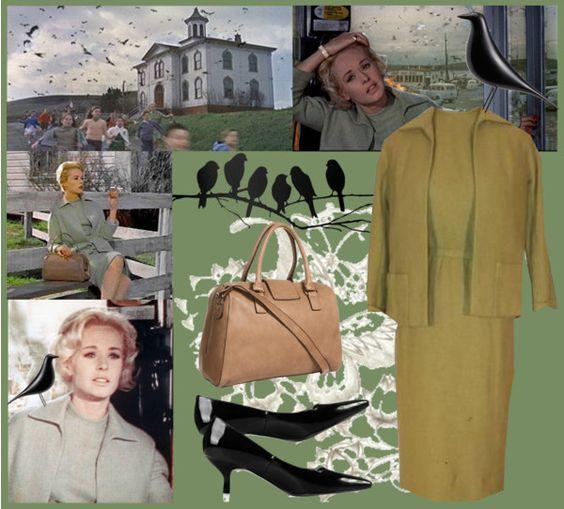 """Tippi Hedren - The Birds costume"" by smylin ❤ liked on Polyvore"