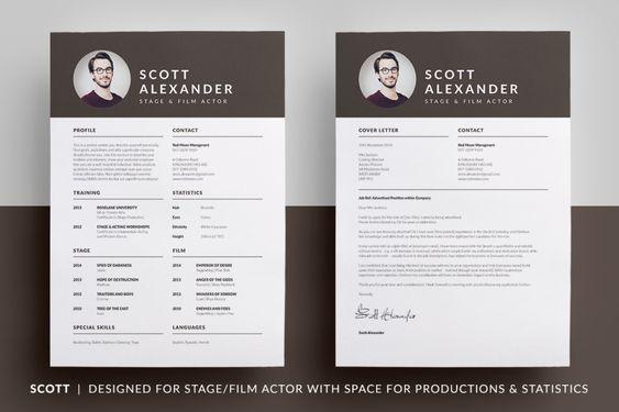 Essential Resume - Joseph by bilmaw creative on @creativemarket - acting resumes templates