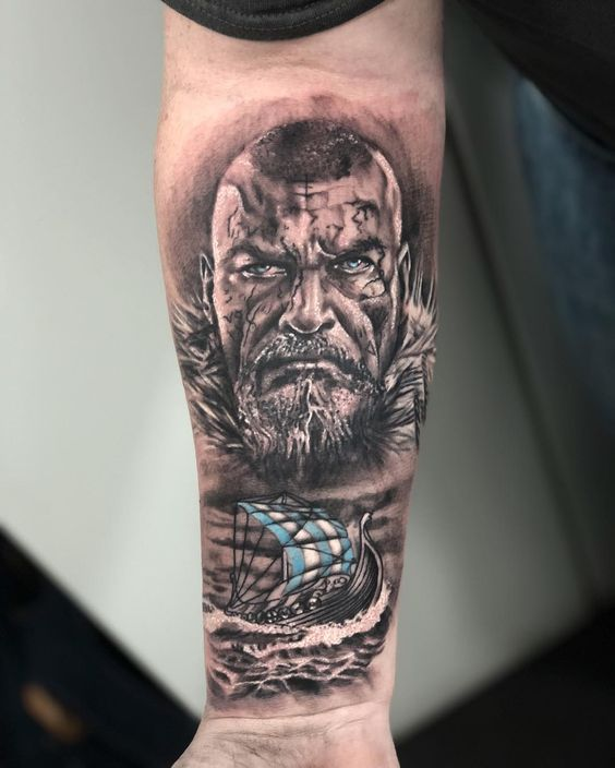 Ragnar Lothbrok the Viking King tattoo