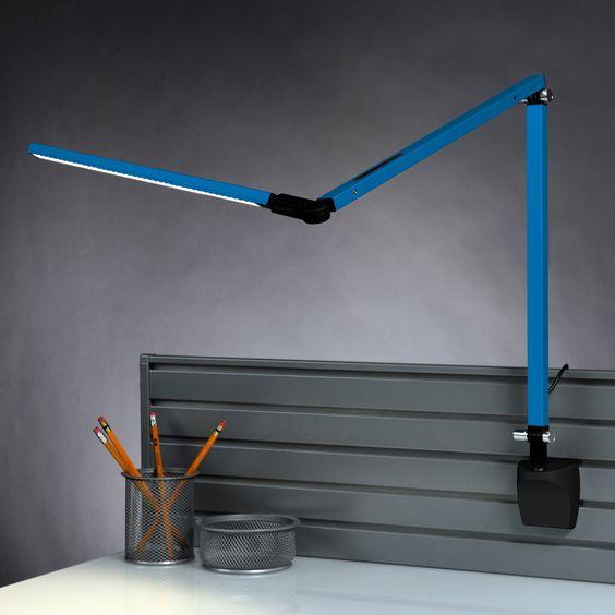 Z-Bar Mini Lamp with Slatwall Mount - Blue by Koncept Technologies - http://www.lightopialed.com/z-bar-mini-lamp-with-slatwall-mount-blue.html