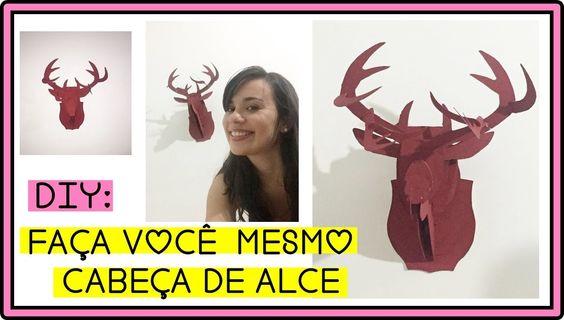 DIY - Cabeça de Alce.Cervo |Trofeu de Caça Decorativo | Decor