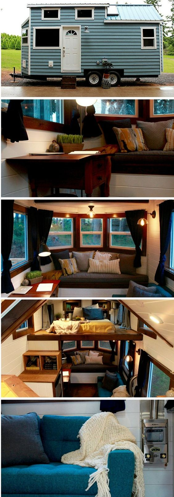 #tumbleweed #tinyhouses #tinyhome #tinyhouseplans The Sapphire tiny house on wheels from Tiny Heirloom. .