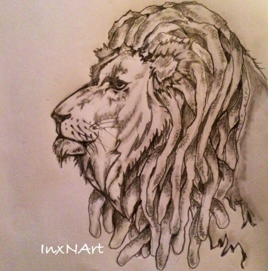 Lion with dreads tattoo drawings - photo#3