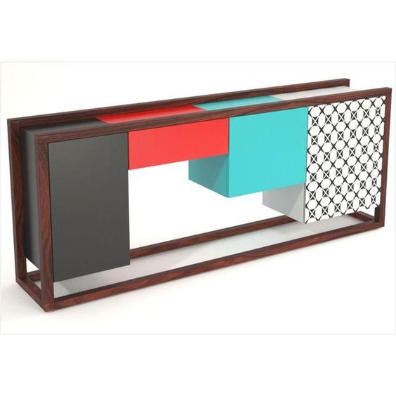 Buffet Aparador Com 3 Portas Design - Grupo Lush - Aparador & Buffet no Pontofrio.com