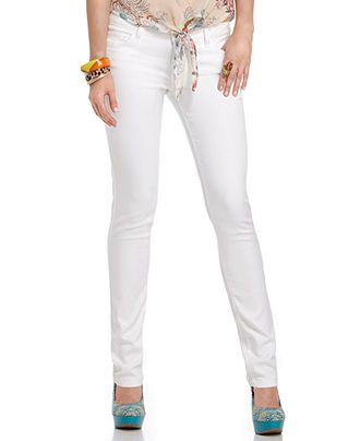 Celebrity Pink Jeans Juniors Skinny Fit White Wash - Juniors