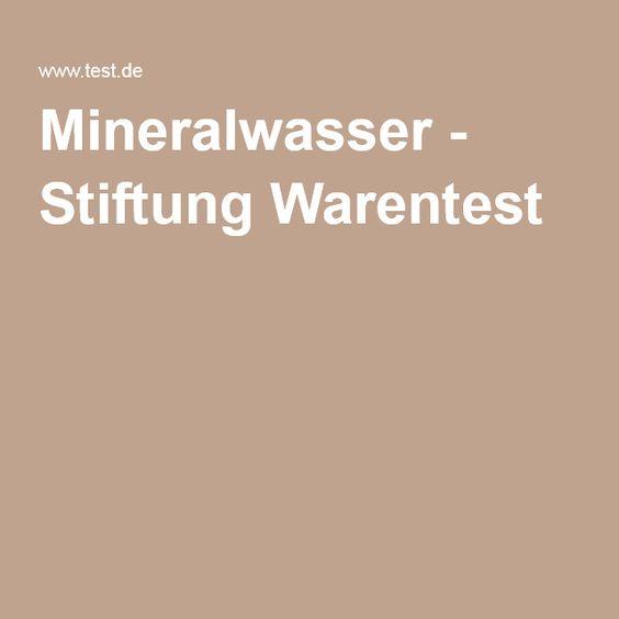 Mineralwasser - Stiftung Warentest