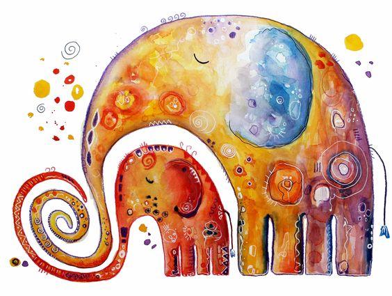 #Sicherheit und #Geborgenheit genießen. #Elefanten #Kunst von Clarissa Hagenmeyer - www.clarissa-hagenmeyer.de