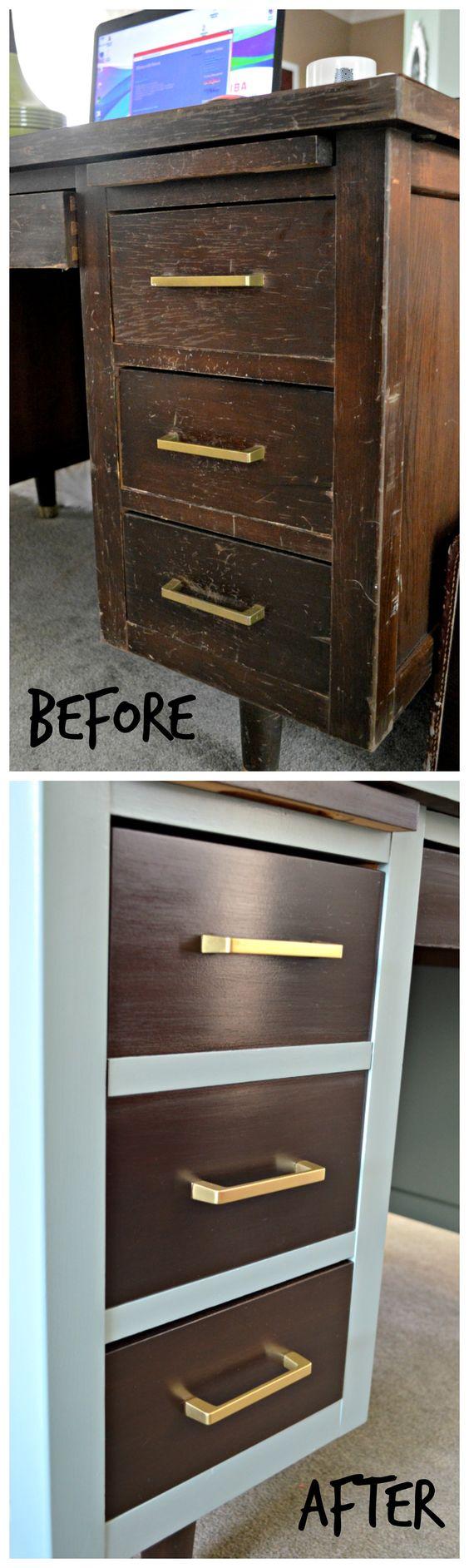 1950's Tanker Desk Redesign | laughingabi.com