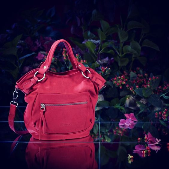 Red Leather Bag Pierre Cardin #pierrecardin