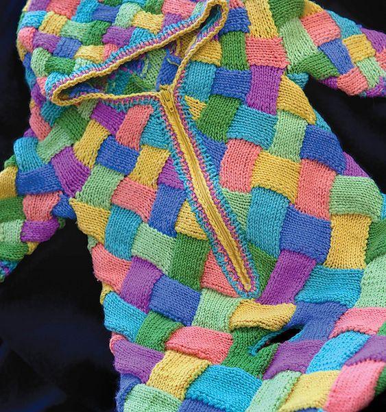 Entrelac Knitting Patterns Sweater :
