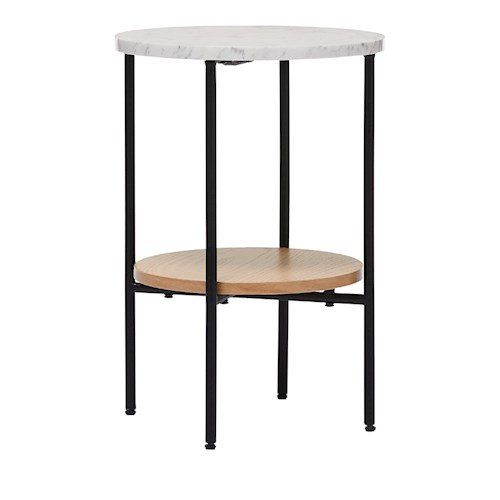 Home Republic Milan White Marble Oak 2 Tier Side Table Furniture Adairs In 2020 Side Table Coffee Table Table Furniture
