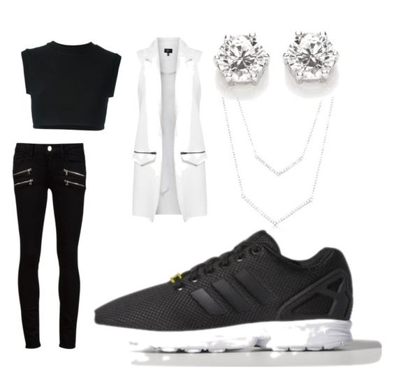 """everyday"" by rabiahk ❤ liked on Polyvore featuring moda, adidas, adidas Originals, Topshop y Paige Denim"