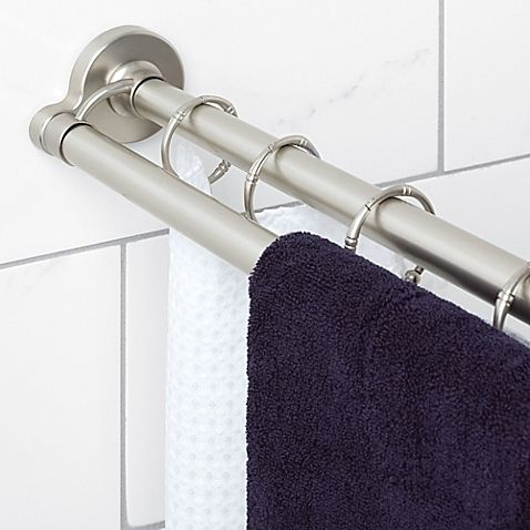 Straight Double Shower Curtain Rod Double Shower Curtain Rod