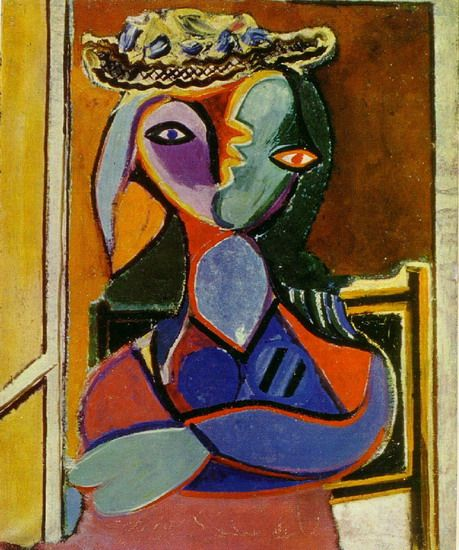Pablo Picasso. Woman with hat. 1961