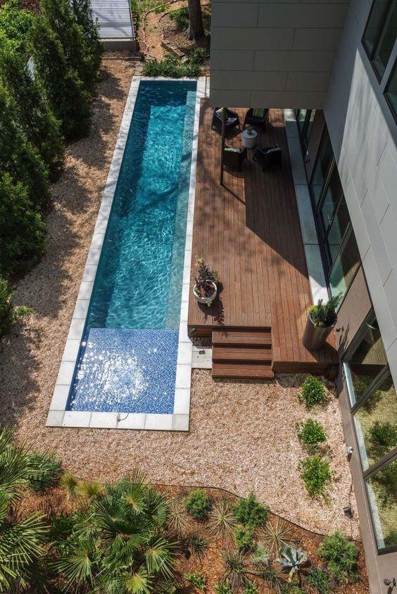 50 Stunning Outdoor Backyard Landscaping Design Ideas Small Backyard Pools Small Pool Design Swimming Pools Backyard