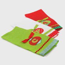 Christmas initial tea towels - cute!