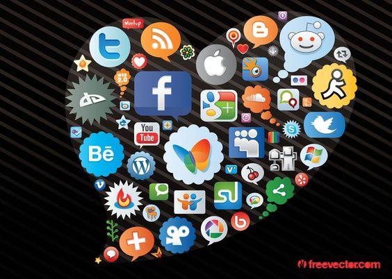Corazón de Redes Sociales