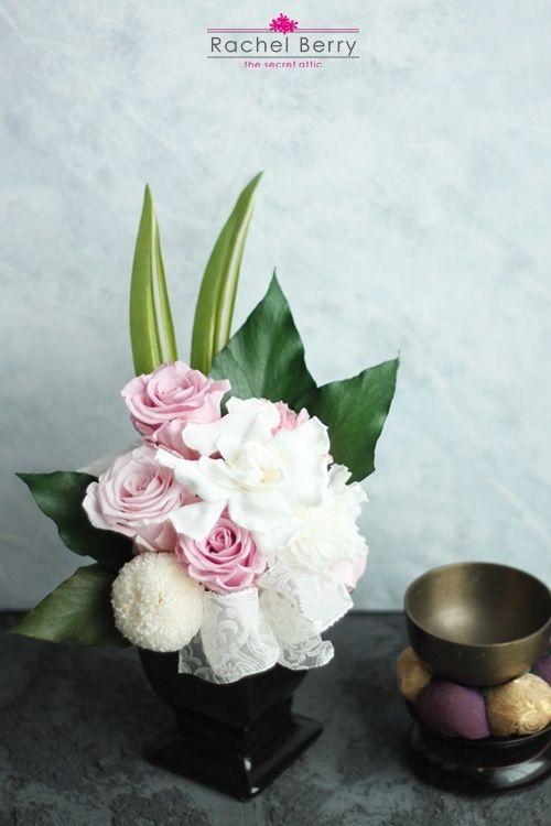 和モダンアレンジ 仏花 仏壇のお父様に 2020 仏花 仏壇 花 ウェディング ブーケ 造花