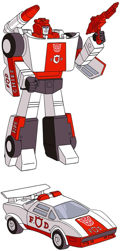 Transformers Generation 1 Cartoon Characters : Red alert Паникер Стоп сигнал transformers kiev ua