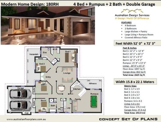 Pin By House Plans Australian On House Plans For New Homes In 2020 House Plans Affordable House Plans Modern House Plans