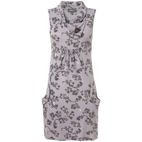 Grey Robin & Branch Print Tunic Dress in DRESSES from Apricot