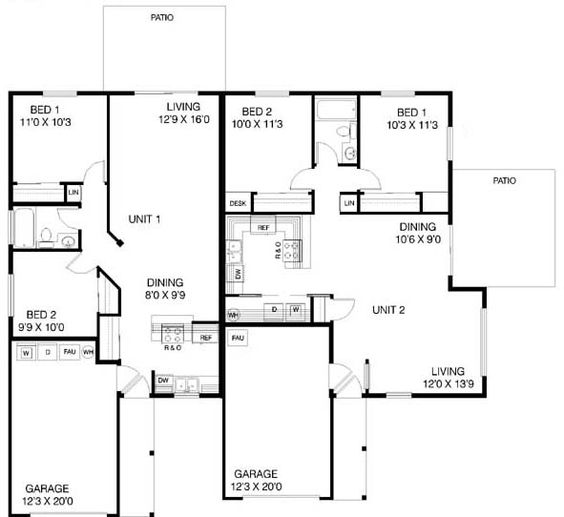 House Plan Id Chp 19240 Multi