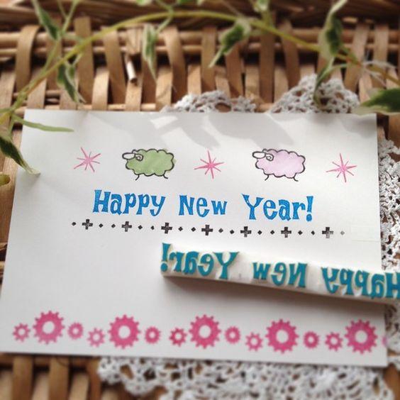 ・.・.・.・.・.・.・.・.・.・.・.・.・.・.・.・.・.・・.・.・.・Happy New Year!の年賀状作りに!!(^○^)一直線なので、斜...|ハンドメイド、手作り、手仕事品の通販・販売・購入ならCreema。