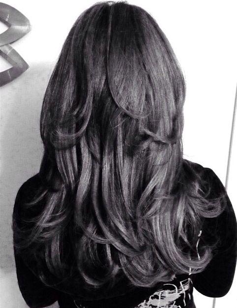 Long haircut short layers @Jess Pearl Pearl Liu Rebimbas