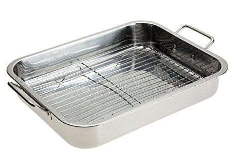 Stainless Steel Heavy Duty Lasagna Pan 16 Inch Roasting Pan With Rack Roasting Pan Pan Stainless Steel Pans