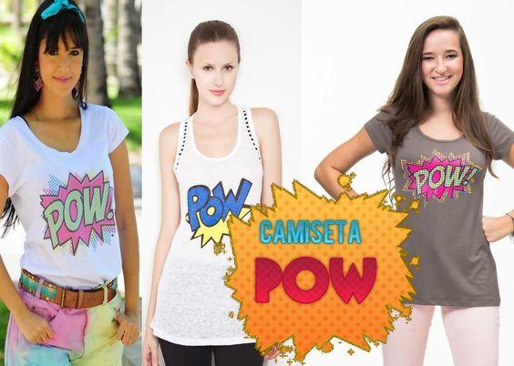 "Garotas Criativas: DIY: Camiseta customizada ""POW!"""