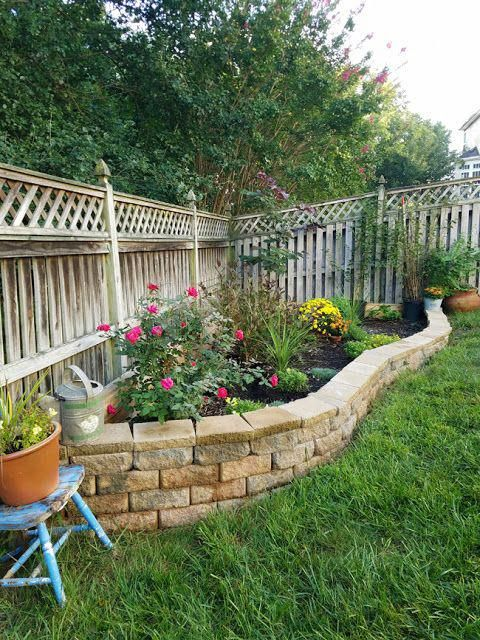 Raised Garden Bed With Concrete Retaining Wall Blocks Raised Garden Beds Diy Building A Raised Garden Raised Garden