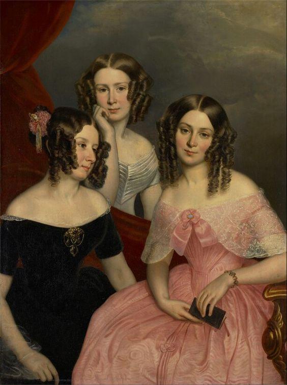 Les trois soeurs Robinson, 1846 George Théodore Berthon