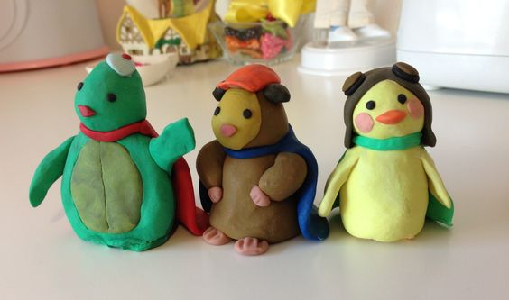 Handmade Clay Wonder Pets Cake Topper By D Glenn Linny Tuck And Ming Ming Too Wonder Pets Animal Cake