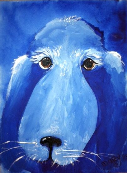 Monochromatic dog painting this was such a fun project for Famous monochromatic paintings