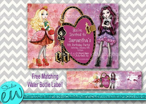 Ever After High Birthday, Ever After High Invitation, EAH Birthday, Ever After High Party, Ever After High Printable, Digital Item