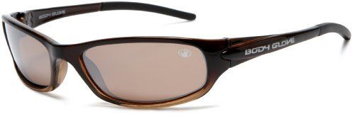 Body Glove QBG1021 Polarized Sport Sunglasses,Brown to Tan Fade Frame/Brown Lens,one size Body Glove. $29.54. Lens height: 35 millimeters. Arm: 120 millimeters. Flexible nylon frame. 1.0 mm polarized lens. Lens width: 62 millimeters. Bridge: 15 millimeters. Y. 100% UV protection coating