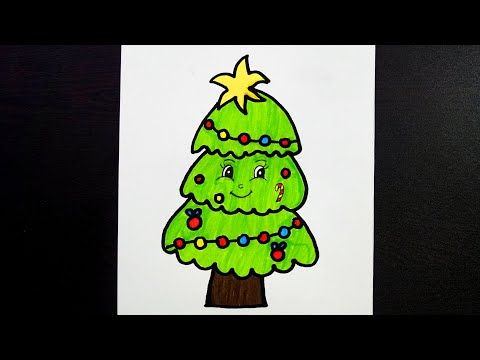 Christmas Tree Drawing With Colour How To Draw Christmas Tree Kids Drawing Youtube Christmas Tree Drawing Drawing For Kids Tree Drawing For Kids