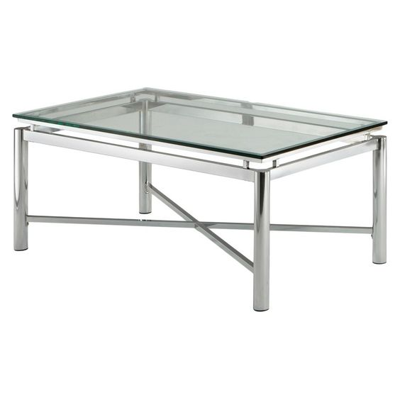 Nora Coffee Table - Chrome/Glass - Steve Silver