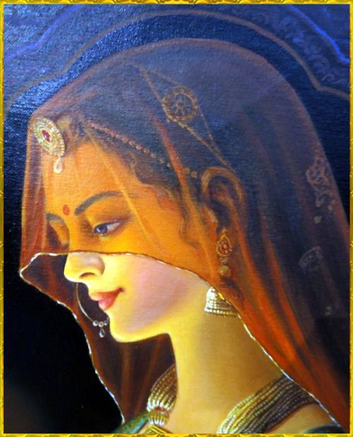 "✨ SHRI RADHA ✨Artist: Hari Omhttp://www.artforheart.in/""O Shrimati Radharani, I offer my respects to You whose bodily complexion is like molten gold. O Goddess, You are the queen of Vrindavana. You are the daughter of King Vrishabhanu and are very dear to Lord Krishna."""