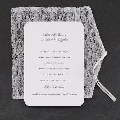 Extravagant Lace #Wedding #Invitation