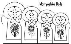 nesting dolls Colouring Pages