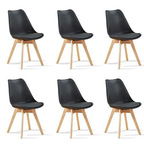 Chaise Scandinave Davia Gris Et Noir Salle A Manger Brunch Tissus Plastique Bois Decoration Nordique Macram Chaise Design Chaise Moderne Chaise