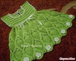 Resultado de imagen de vestido de menina de croche