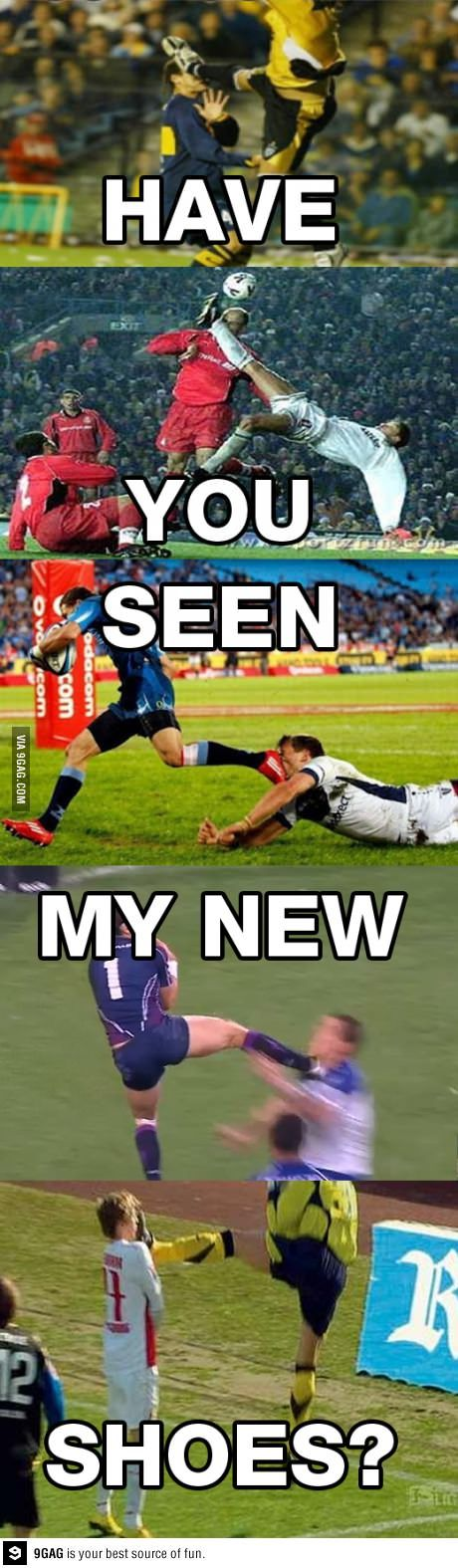 That happens to me all the time I kick a lot of people in the face (in soccer)