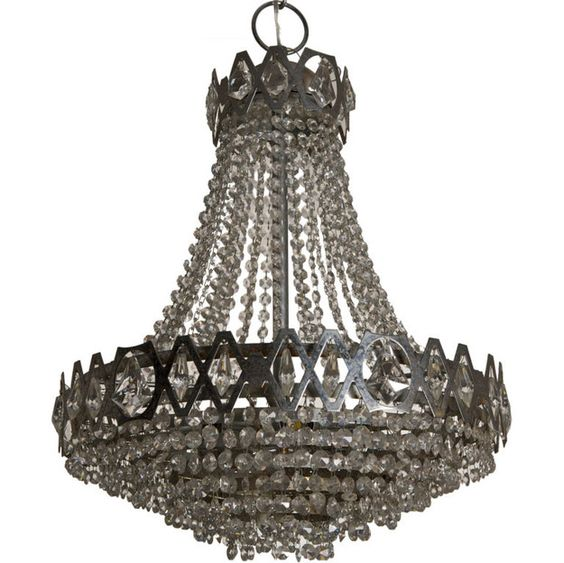 Judy Frankel Antiques - Empire Style Waterfall Fixture with Chrome Detailing ($500-5000) - Svpply